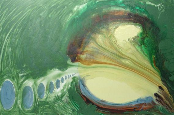 green abstract art for sale