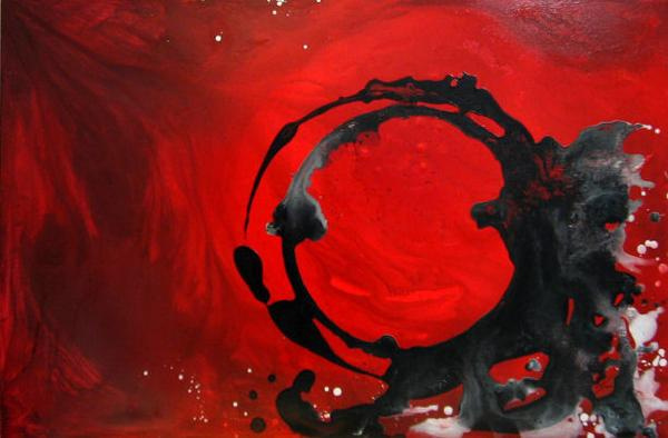 original abstract art for sale red