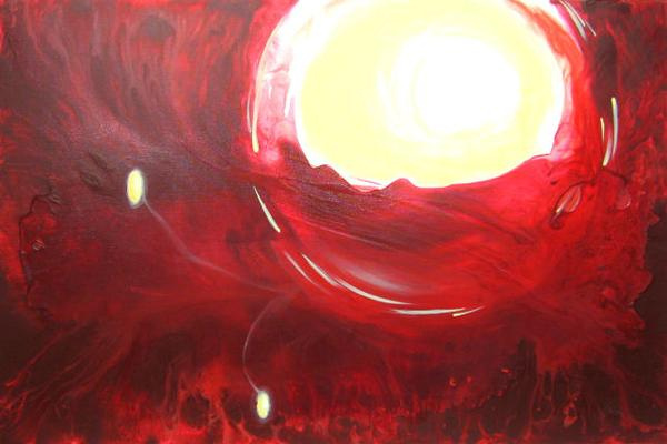 red abstract art for sale